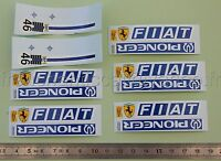 BN Véhicule miniature 1/43 decalcomanie FIAT PIONEER ferrari Heco voiture