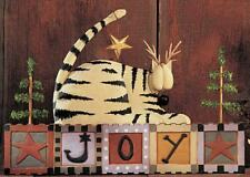 """CAT Wall Plaque - """"JOY"""" - 2511 - Williraye - New in Box - Only One"""