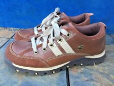 SKECHERS USA Fashion Sneakers Leather Lace Up Oxfords Bowler Womens Shoes Sz 7.5