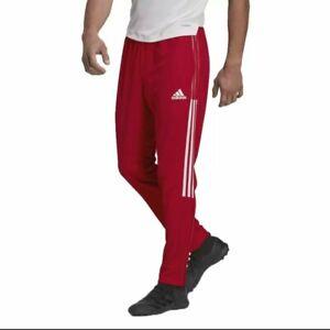 MEN'S ADDIAS RED/WHITE TRIO TRACK PANTS TEAM POWER.
