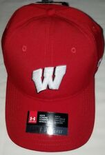 new product 6949d ae0a3  1218 Under Armour Heat Gear Wisconsin Badgers Men Red Adjustable Hat-NWT