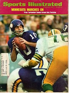 1973 Sports Illustrated Football magazine,Fran Tarkenton Minnesota Vikings FAIR