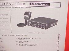 1980 MIDLAND CB RADIO SERVICE SHOP MANUAL MODEL 5001 (77-005)
