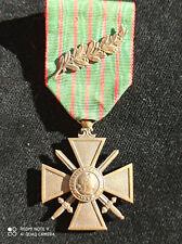 A6D) Médaille militaire croix de guerre 1914 1918 avec palme WW1 french medal
