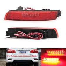 For Nissan Juke Murano Infiniti 09-13 Rear Bumper Lamp Reflector Tail Light Pair