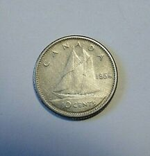 CANADA  Canadian 1956 ten 10 cents silver dime coin B