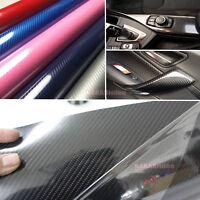 DIY Car House 5D Glossy Mirror Carbon Fiber Vinyl Tape Wrap Sticker Decal - AB