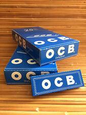 OCB Blau Zigarettenpapier Papier 2 x 25 Heftchen a´50 Blättchen Drehpapier