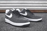 NIKE MEN'S NIKE AIR FORCE  1 ONE  LOW  SNEAKERS SHOES Anthracite/White