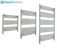 800 mm Wide Chrome Ladder Heated Towel Rail Radiator Designer Bathroom Straight