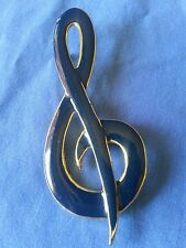 Gloss Blue - Costume Jewelry J94 Treble Clef Pin - High