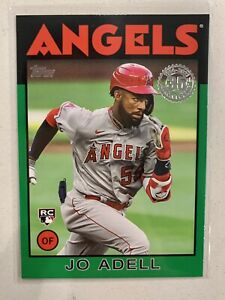 2021 Topps Series 1 Jo Adell RC 1986 Target Green Parallel - LA Angels Rookie