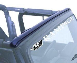 Rampage 901004 Windshield Channel Header Black 1997-2006 Jeep TJ Wrangler