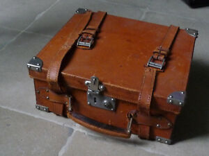 Grande Chasse BOITE A CARTOUCHE munitions cuir total RARE maroquinerie vennerie