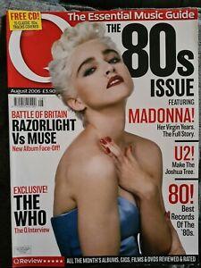 Q Magazine AUGUST 2006, 80'S, MADONNA, U2
