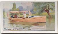 Thames River Launch Water Boat Craft  85+ Y/O Trade Ad Card