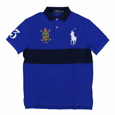 Polo Ralph Lauren Big Pony Custom Slim Fit Polo Shirt Mesh Knit Crest Logo New