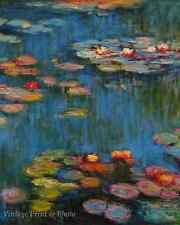 Waterlilies by Claude Monet - Art Garden Pond Flowers Reflection 8x10 Print 0917