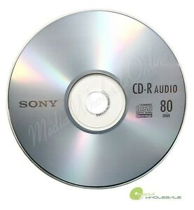 25 SONY Blank Music CD-R CDR Branded 80min Digital Audio Disc in paper sleeves