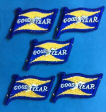 5 Lot Vintage 1960's Goodyear Tires NASCAR Sponsor Racing Gear Jacket Patches