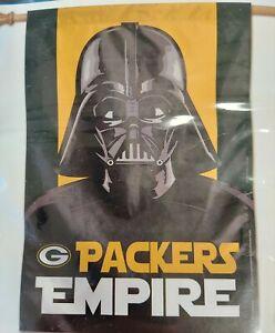 Green Bay Packers Star Wars Empire Flag - Darth Vader - Indoor Outdoor - New