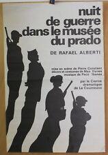 Affiche Originale 1975 ✤ Nuit de Guerre / Musée Prado ✤ Rafael Alberti