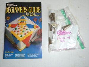 Vintage 1981 Wilton Cake Decorating Kit 9 Tips  1 Nail 1 Bag  11 Pieces