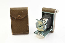 Kodak Petite 127 Camera Baby Blue 1929-1933 WORKS with Original Case Very Nice
