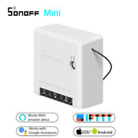 NEUE SONOFF Mini Wifi DIY Smart Switch Voice APP Fernbedienung Android IOS Equip