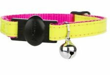 "Whisker City Reflective Breakaway Bright Yellow Pink Adjustable 8-12"" Cat Collar"