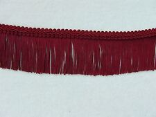 """2 Yards or MORE 2 3/4"""" Burgundy Chainette Fringe Trim with FREE Gimp  Lampshades"""
