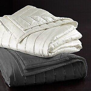 Donna Karan Home Lush Velvet Collection Cotton Blend Quilt - KING - Ivory