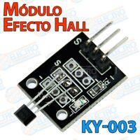 Modulo sensor efecto Hall KY-003 salida digital magnetico - Arduino Electronica