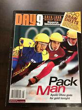 APOLO OHNO Signed SI Day 9 2002 Winter Olympics Program