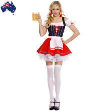 Ladies Oktoberfest Beer Costume German Bavarian Heidi Maid Wench Fancy Dress
