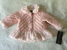 NWT Isobella & Chloe pink white quilted crinkled coat girls size 12M - $60