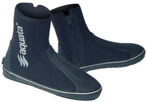 Taucher Schuhe Neopren 5 mm  HD mit  Reißverschluss Sohle    Aquata