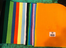 "Lot of 17 FELT SHEETS, Two Different Qualities 8"" x 11 1/2"" &  9"" x 12"" & more.."