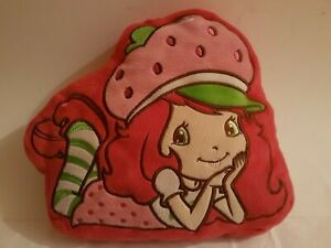 "Strawberry Shortcake  Plush Pillow 12 ""x 10"" Red Pink Green White"
