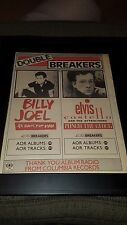 Billy Joel/Elvis Costello Rare Original Radio Promo Poster Ad Framed!