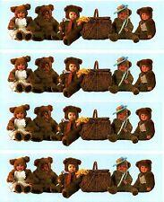 Anne Geddes BABY Teddy Bear Border Scrapbook Stickers! 4 strips