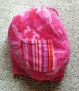 NORTHPOLE LTD. Picnic/Beach Blanket w/ Attached Mesh Carrying Bag - 55'' x 65''