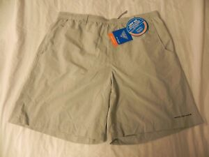"New Columbia PFG Backcast III Water Short Gray 8"" Omni-Shade Men's Shorts Large"