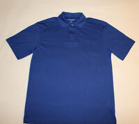 SADDLEBRED EASY CARE Men's Small Blue Golf Polo Shirt Short Sleeves EUC