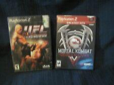 Playstation 2 Mortal Kombat: Deadly Alliance  And UFL Throwdown Lot 2 Games