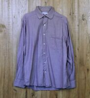 MENS ALEX CANNON SHIRT SIZE M PURPLE LONG SLEEVE 100% COTTON WORK TOP