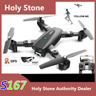 Holy Stone S167 Foldable GPS RC Drone FPV 1080P HD Camera  2.4G WIFI  +2 Battery