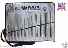 Wilde herramienta 12pc Profesional Rollo Pin Primavera Punch Set Hecho En Usa W Roll caso