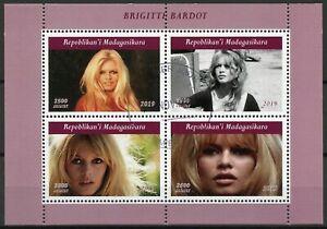Madagascar Famous People Stamps 2019 CTO Brigitte Bardot Celebrities 4v M/S I
