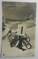Neujahr Kinder, Frauen, Mode, Schlitten,  1913 ♥ (63878)